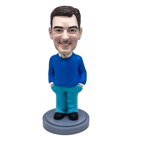 Fully Customized Polyresin Bobblehead from Head married//birthday//Christmas gifts